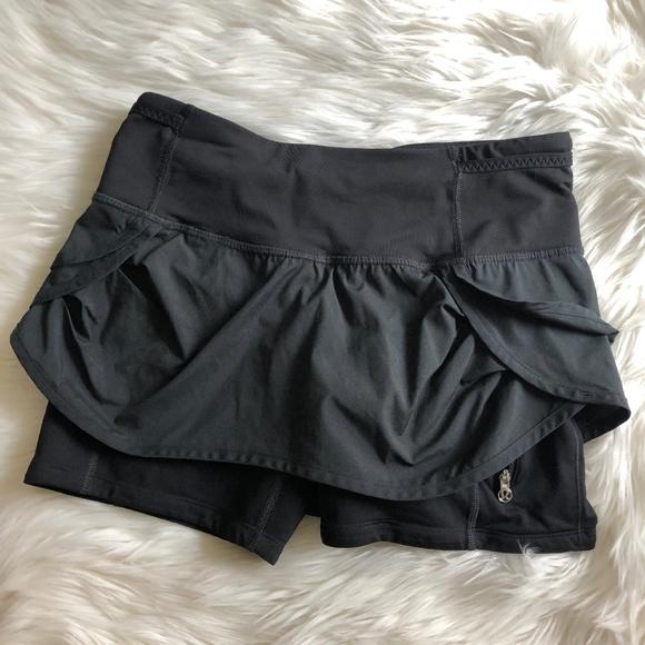 e7ec7cf70e lululemon athletica Shorts   Lululemon Run Speed Squad Skirt Black ...